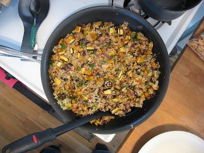 Aarti's Quinoa Pilaf with Delicata Squash