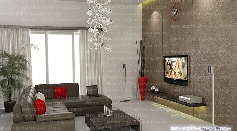 Bryiez interior space design living hall for Living hall interior design
