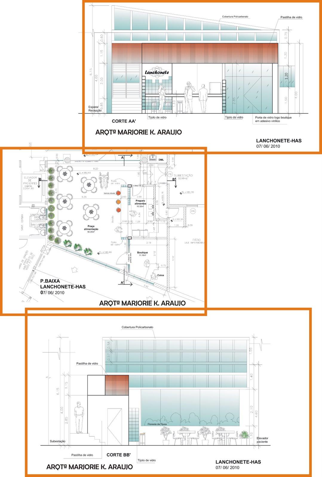 Arq.MarjorieKaroline: arquitetura e construção: Lanchonete HAS #B05F1B 1078 1600