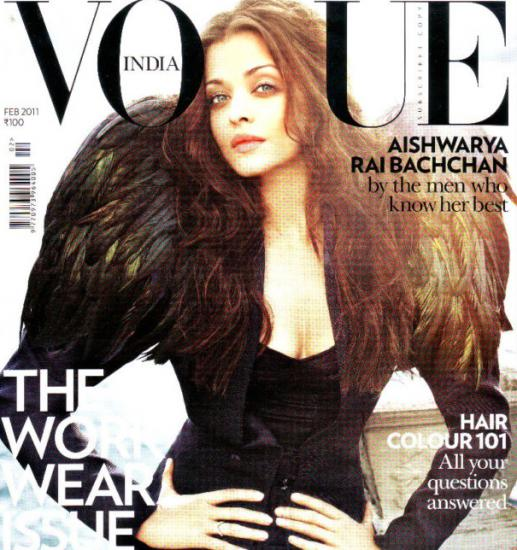 - Aishwarya Rai On Vogue Magazine Cover February 2011