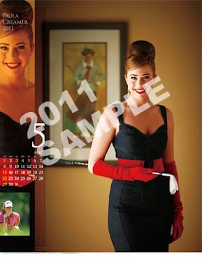 paula creamer 2011 calendar may