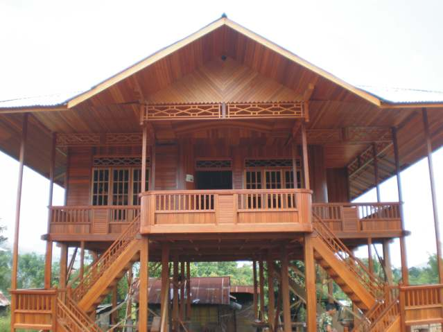 Download this Provinsi Riau Rumah Adat Tradisional Melayu Selaso Jatuh Kembar picture