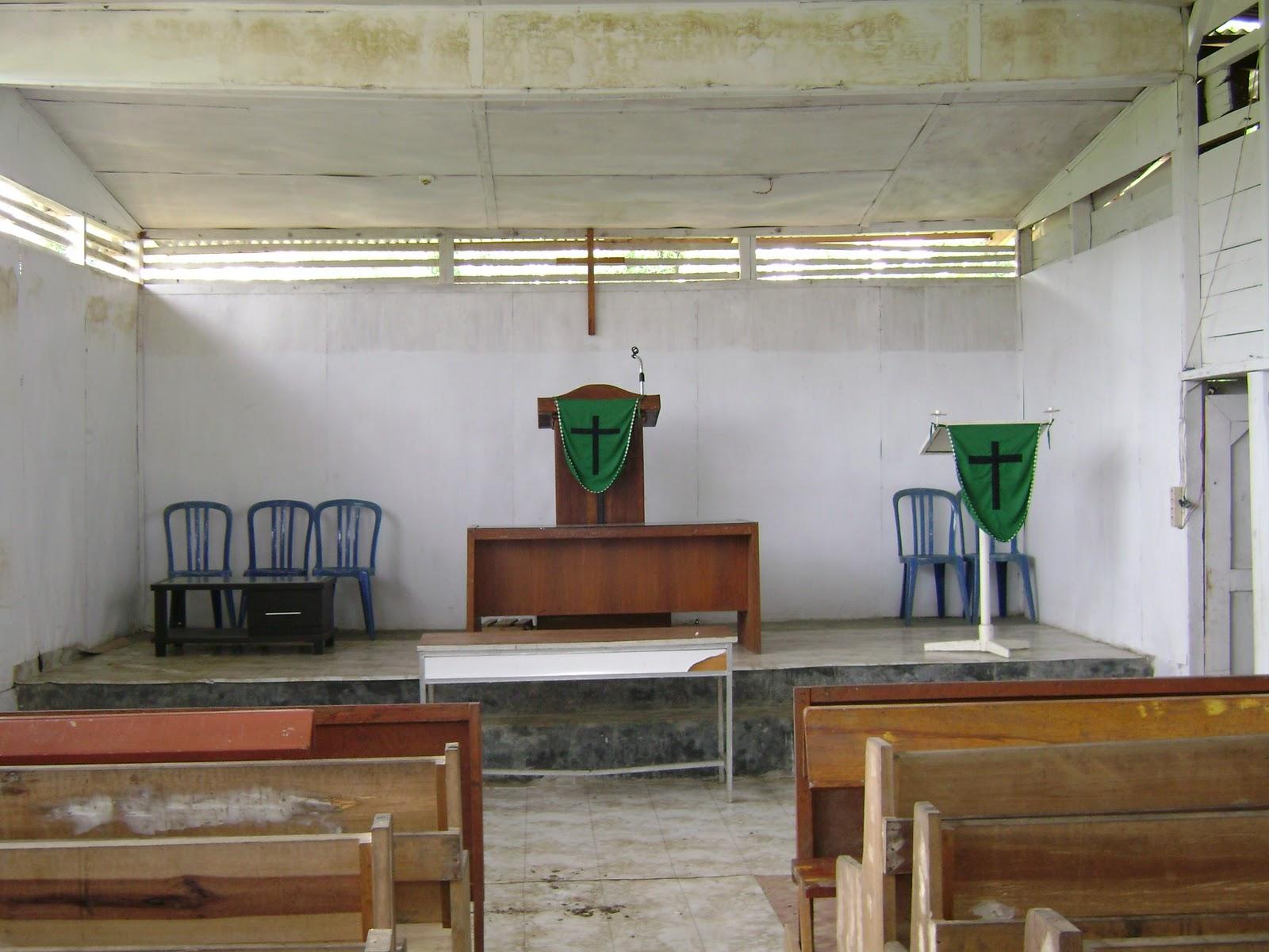 Bangunan Dalam Gereja Sekarang