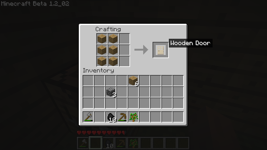 how to make a wooden stick in minecraft