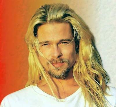 brad pitt long hairstyles. Brad Pitt Long Hairstyles