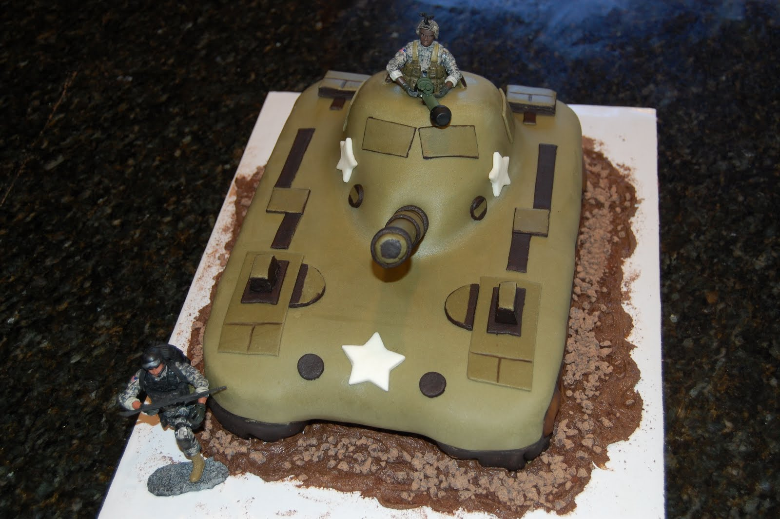 how to make a tank cake