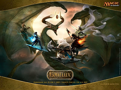 The wallpaper shows us the legendary Nicol Bolas doing battle with the four