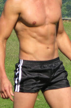 FOOTBALL SHORTS IN BLACK AND WHITE
