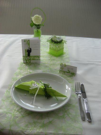 Sabines Creativblog Tischdekoration Silberhochzeit