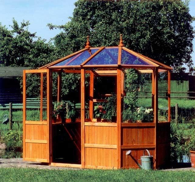 Complementos casa y jard n invernaderos peque os invernadero octogonal - Jardin invernadero ...