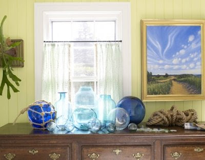 decorating with glass floats