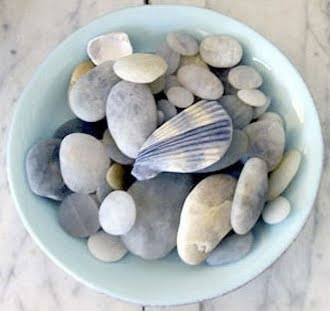 Beach Pebbles in Bowl