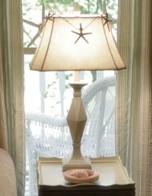 starfish garland around lamp shade