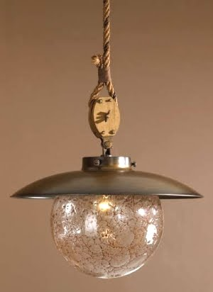 rustic brass pendant lighting fixture