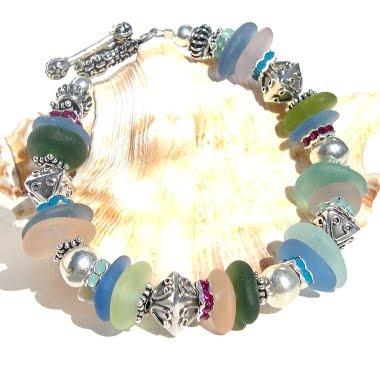 jóia de vidro verdadeiro mar de cores diferentes