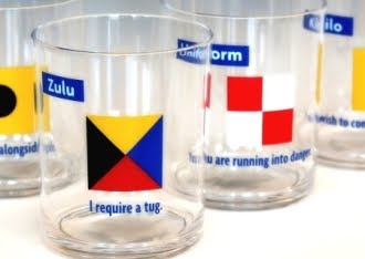 nautical drinkware flag design