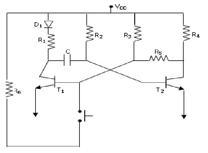 electr u00f3nica  circuito oscilador astable y monoestable con