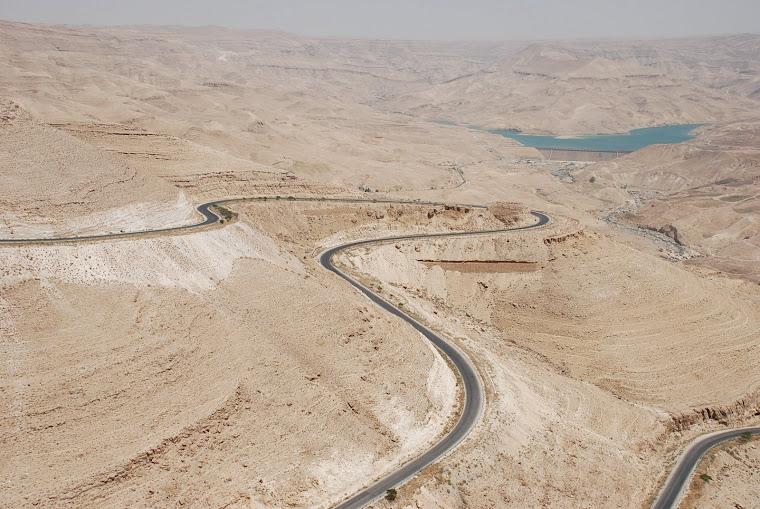 Carretera hacia el Mar Muerto