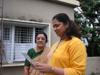 Prabha with Jaya aunty