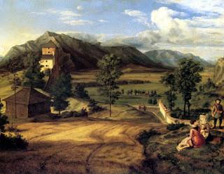 Johann Heinrich Ferdinand Olivier (1785-1841): Salzburgische Landschaft, 1824, Gemäldegalerie Dresden