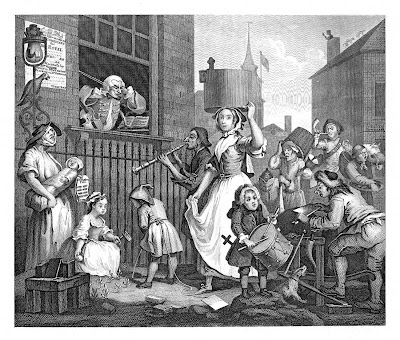 William Hogarth: The Enraged Musician, 1741
