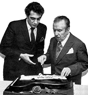 1983, 20th February: Plácido Domingo & Claudio Arrau. 80th Birthday Gala Recital, Avery Fisher Hall, Lincoln Centre, NY.