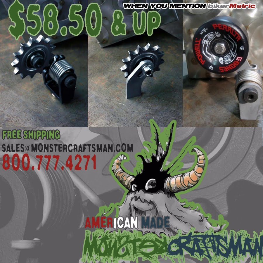 bobber and chopper chain tensioners