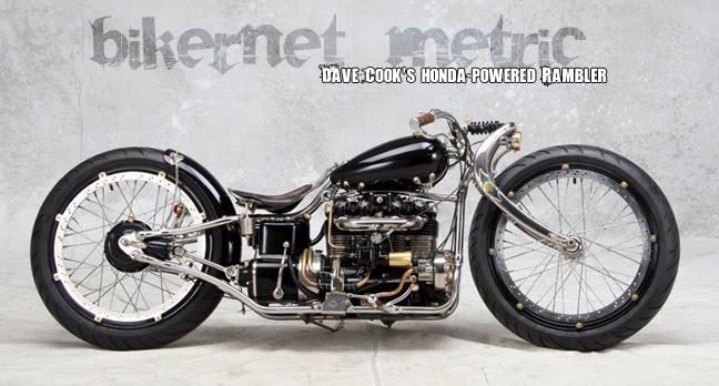 Dave Cook S Rambler Honda Cb550 Transverse 4 Cylinder Custom Bobber Bikermetric