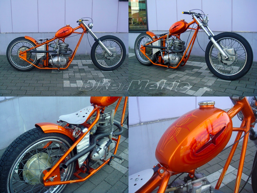 Bsa B25 Chopper By Kaikado Bikermetric