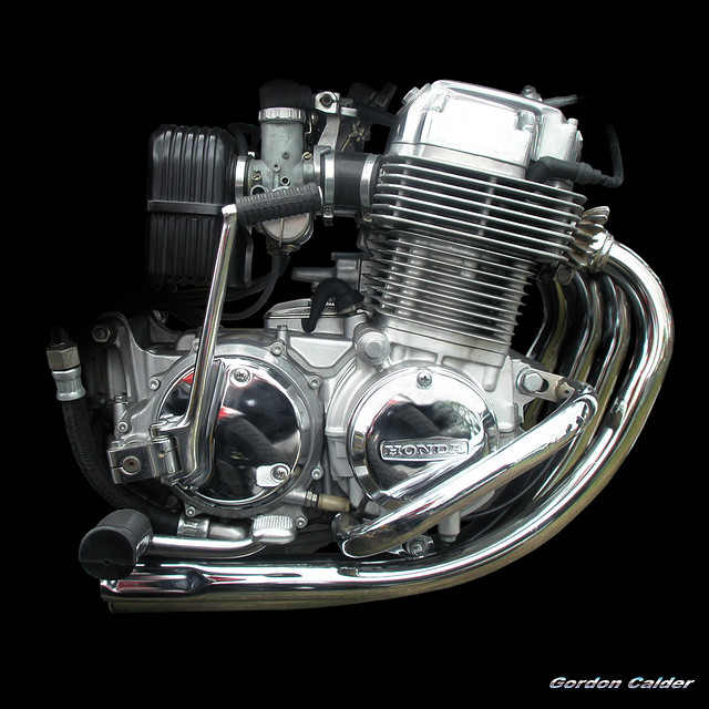Honda Motorcycle With Fit Engine: Engine Photography By Gordon Calder #2