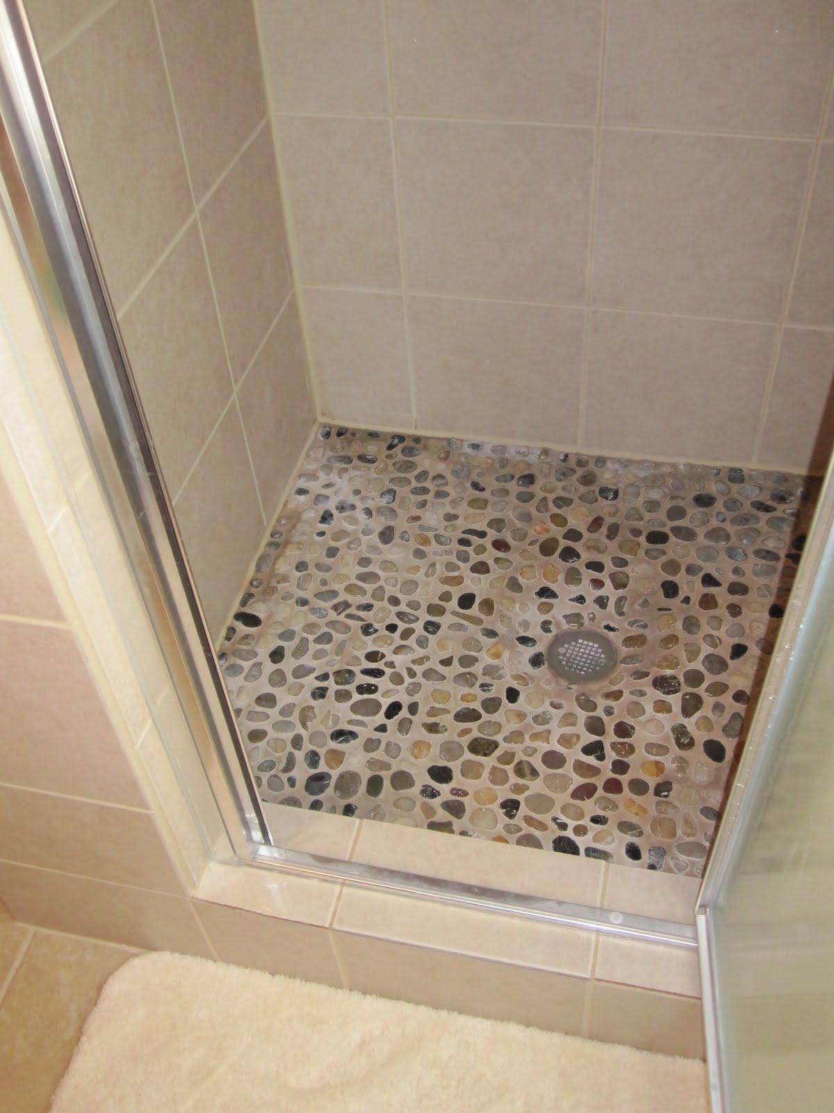 Remodelaholic a river runs through it bathroom redo guest for Redo bathroom floor