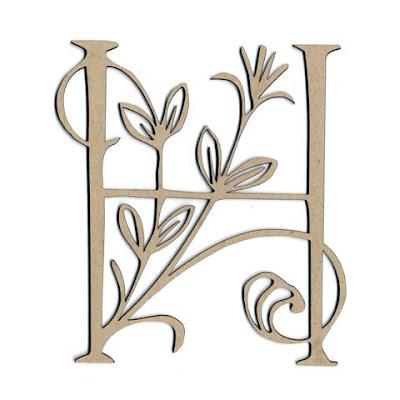 h alphabet pictures  Botanica Alphabet - H (Chipboard)