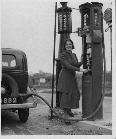 gas pump girls. leslie king gas pump girls.