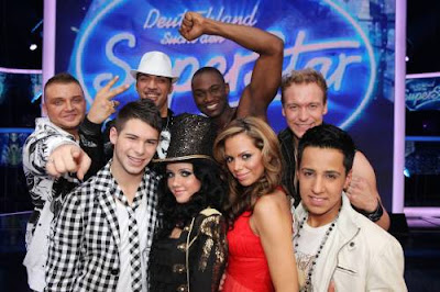 Gruppenbild DSDS Top 8 Kandidaten 2010