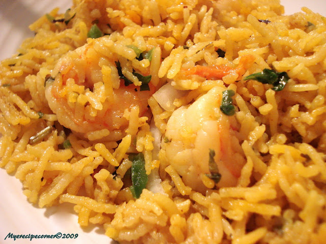 Mye's Kitchen: Prawn Biryani/ Era Biryani