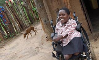 Prudence en su silla de ruedas