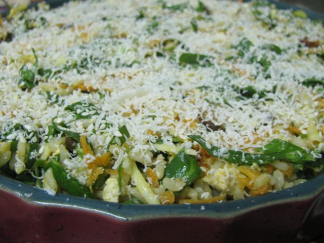 Green Gourmet Giraffe: Spinach Rice Gratin