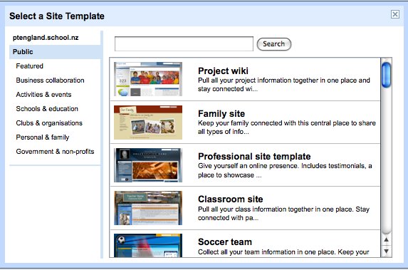 Manaiakalani google sites templates an announcement this week on the official google sites blog will make a lot of teachers and schools happy they have ready made templates to enable your pronofoot35fo Gallery