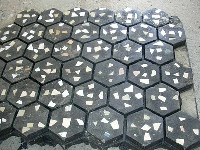 Recycled plastic pavement bricks