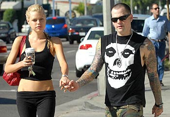 Photo of Sophie Monk and Benji Madden after their engagement.