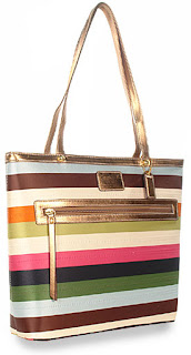Photo of a striped tote bag
