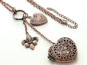 Photo of a charm necklace with a heart