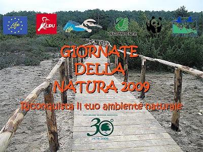 Locandina Giornate della Natura 2009