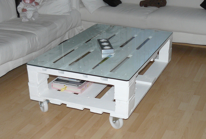 Deco hogar on pinterest mesas pallet tables and pallets - Mesa centro palet ...