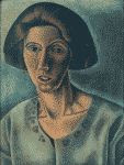 'My Mother' i.e., Margery Williams, in Maine 1922 color painting by Pamela Bianco