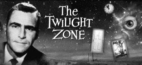 The Twilight Zone television show black and white banner