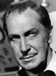 black and white photograph of Vincent Price