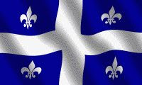 color image of the Quebec flag