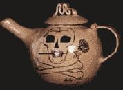 color photograph of an Agatha Award 'Teapot'