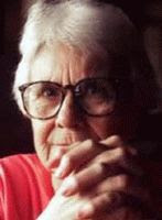 A color photograph of Harper Lee.